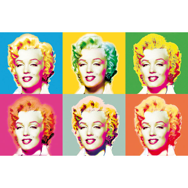 Ideal Décor Visions Of Marilyn Wall Mural