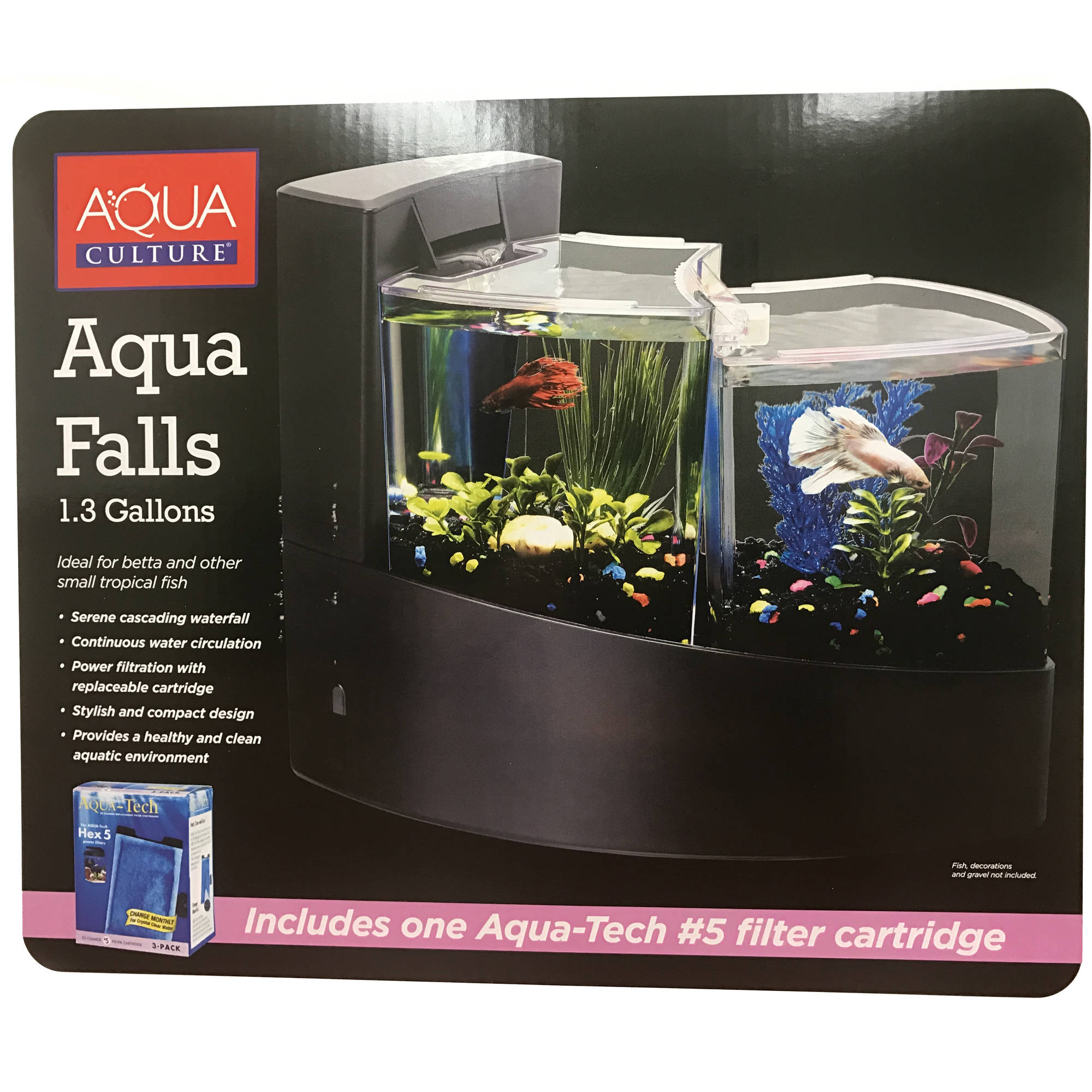 Aqua Culture Aqua Falls Betta Fish Aquarium Kit, 1.3-Gallon by Jewelry Sizing & Repair
