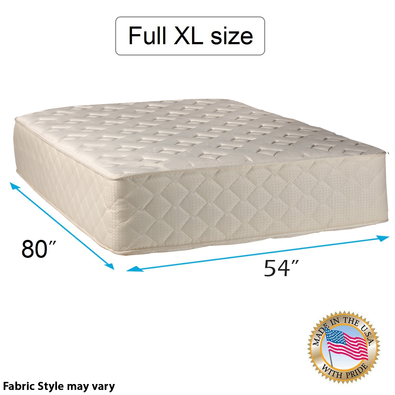 "Highlight Luxury Firm Full XL Size (54""x80""x14"") Mattress Only - Fully Assembled - Spinal Back Support, Innerspring Coils, Premium edge guards, Longlasting Comfort by Dream Solutions USA"
