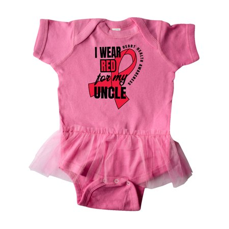 Heart HeaIth Awareness Wear Red for my Uncle Infant Tutu Bodysuit