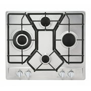 """Empava 24"""" Gas Stove Cooktop with 4 Italy Sabaf Sealed Burners NG/LPG Convertible(24GC4B67A) in Stainless Steel"""