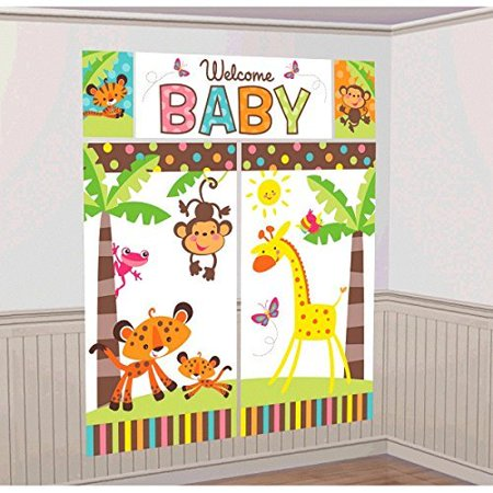 Farm Animal Fisher-Price Baby ABC Unisex, Boy or Girl Baby Shower Party Scene Setter Wall Decorations Kit - Kids Birthday and Party Supplies Decoration By FisherPrice - Fisher Price Baby Shower Decorations