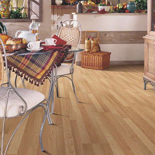 Shaw Floors Natural Values 8'' x 48'' x 6.5mm Oak Laminate in Big Bend Oak (Set of 10)
