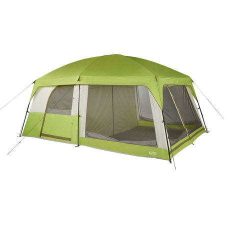 Tmnt Foot - Wenzel Eldorado 10 15 x 10 Foot 10 Person Camping Cabin Tent with Rainfly, Green