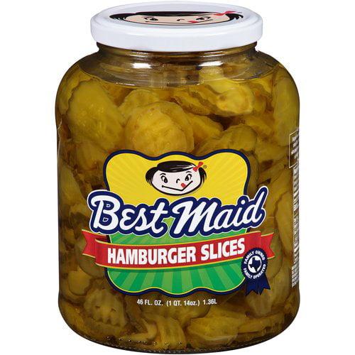 Best Maid Dill Hamburger Slices Pickles, 46 fl oz