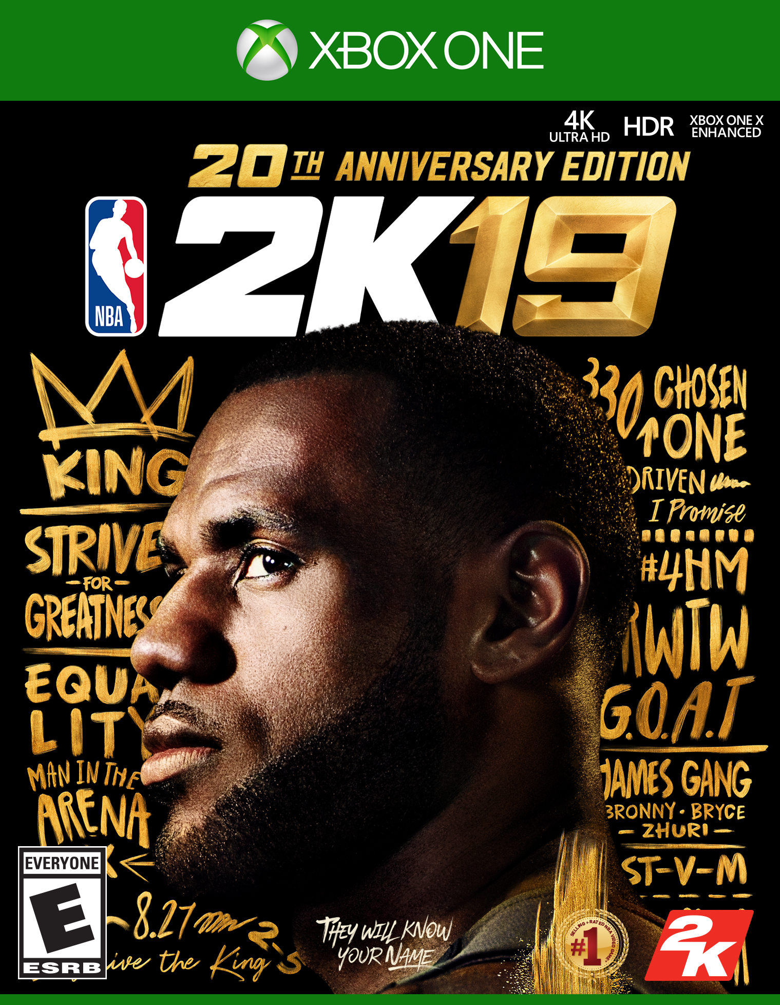 NBA 2K19 20th Anniversary Edition, 2K, Xbox One, 710425590627