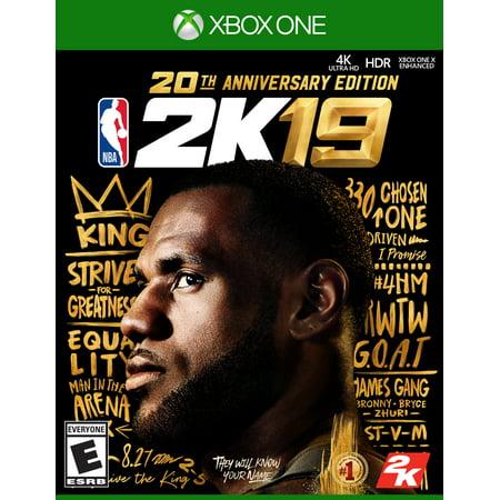 NBA 2K19 20th Anniversary Edition, 2K, Xbox One