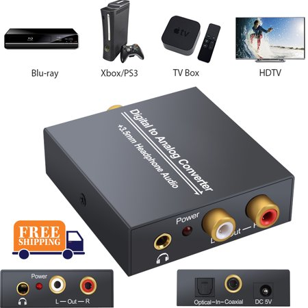 new digital to analog analogue audio converter coax. Black Bedroom Furniture Sets. Home Design Ideas
