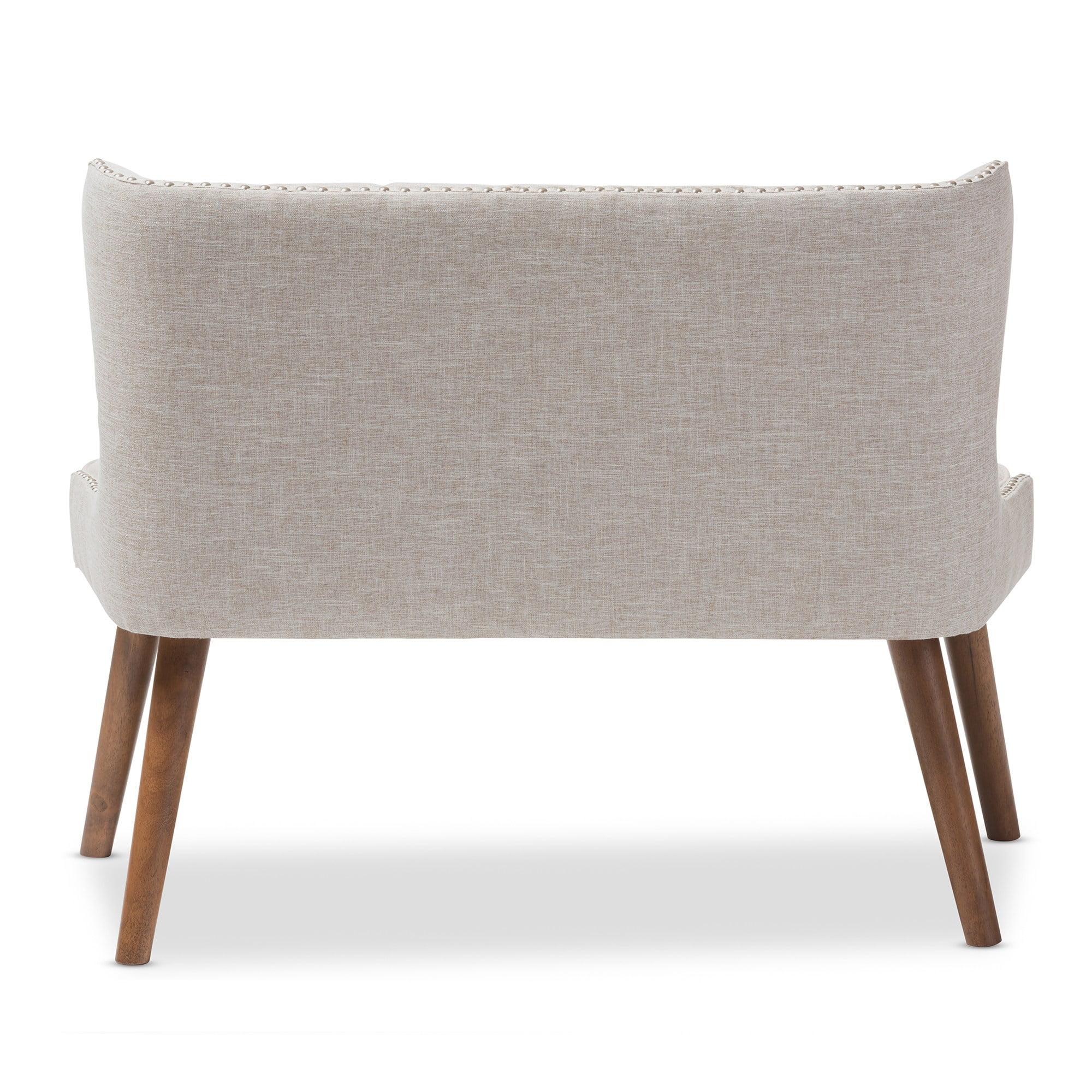 Carson Carrington Rudkobing Mid Century Modern Wood And Fabric Upholstered Button Tufting Loveseat Walmart Com Walmart Com