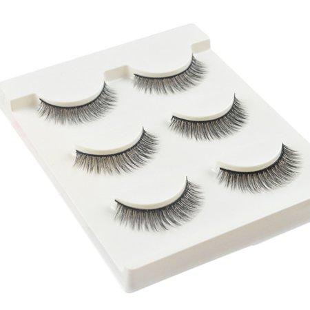 3D Mink Hair False Eyelash Handmade Long Black Soft Fake Eyelashes Extension](Fake Chest Hair)