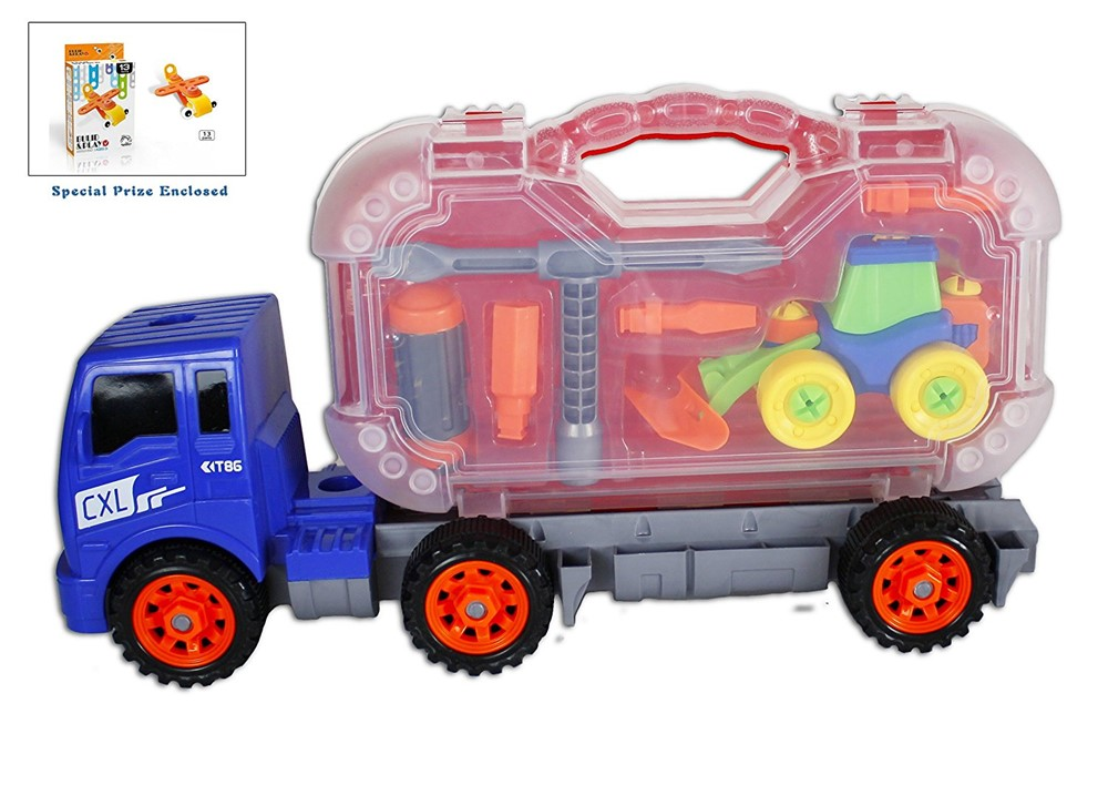 Bezrat Take-A-Part 3-in-1 Kids Tractor Truck, Tool Truck with Tool set, Construction Toy... by