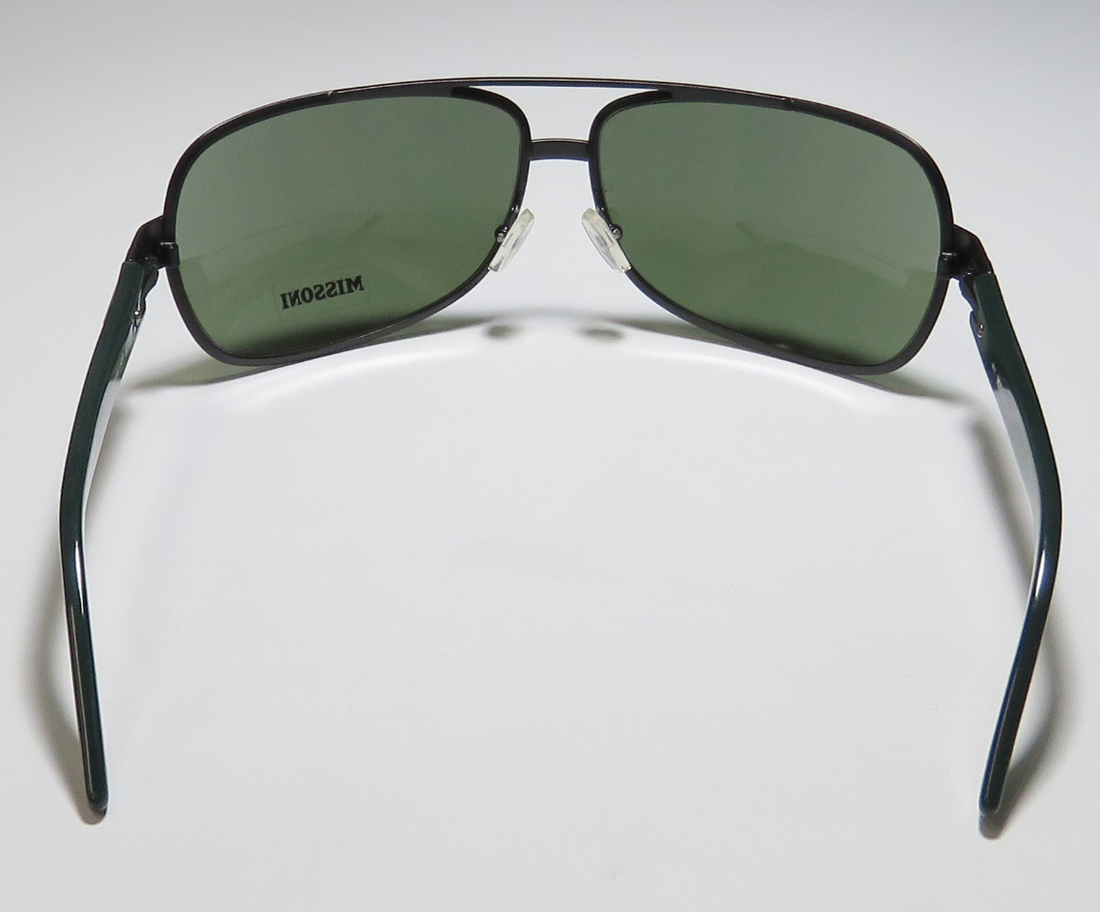 7a795b1f5b3549 New Missoni 54404 Womens Ladies Designer Full-Rim 100% UVA   UVB Black    Dark Green Popular Design Hip Fashion Accessory Shades Sunnies Frame Green  Lenses ...