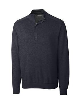 Cutter & Buck Men's Big and Tall Broadview Half Zip Sweater, Athletic Grey Heather - 1XB