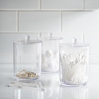 Mainstays 3 Piece Plastic Covered Apothecary Jar Set
