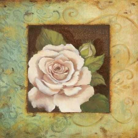 Antique Rose III Poster Print by Jillian Jeffrey (Jillian Jeffrey Antique)