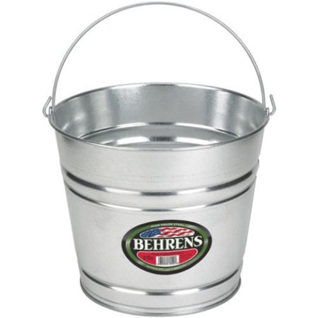 Grand Bucket - Behrens High Grade Steel 1208GS 8 Qt Silver Galvanized Steel Pail