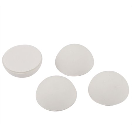 Rubber Wall Guard Doorstop Protectors Bumper Stopper Stop 4pcs White ()