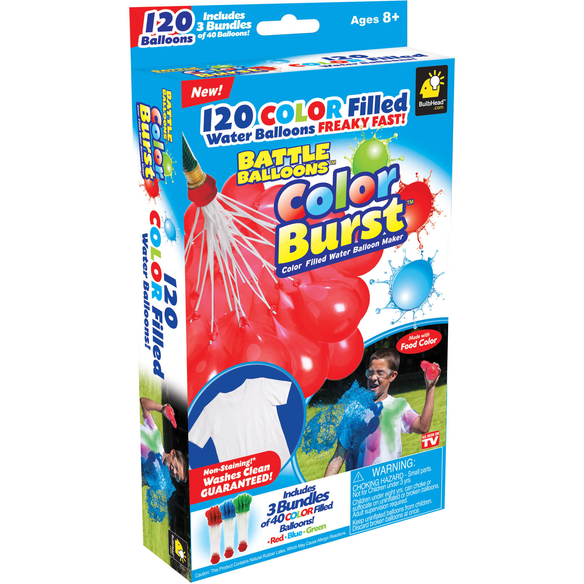 Battle Balloon Color Burst, Pack of 120