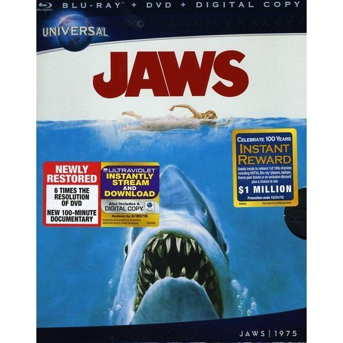 Jaws (Blu-ray + DVD) (Universal 100th Anniversary Collector's Series) (With INSTAWATCH))