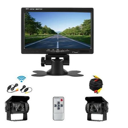 - AMPrime 12V - 24V Car Rear View Wireless Backup Camera Kit + 7