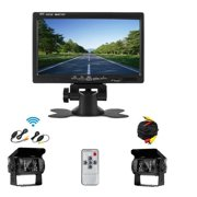 "AMPrime 12V - 24V Car Rear View Wireless Backup Camera Kit + 7"" TFT LCD Monitor For Truck / Van / Caravan / Trailers / Campers"