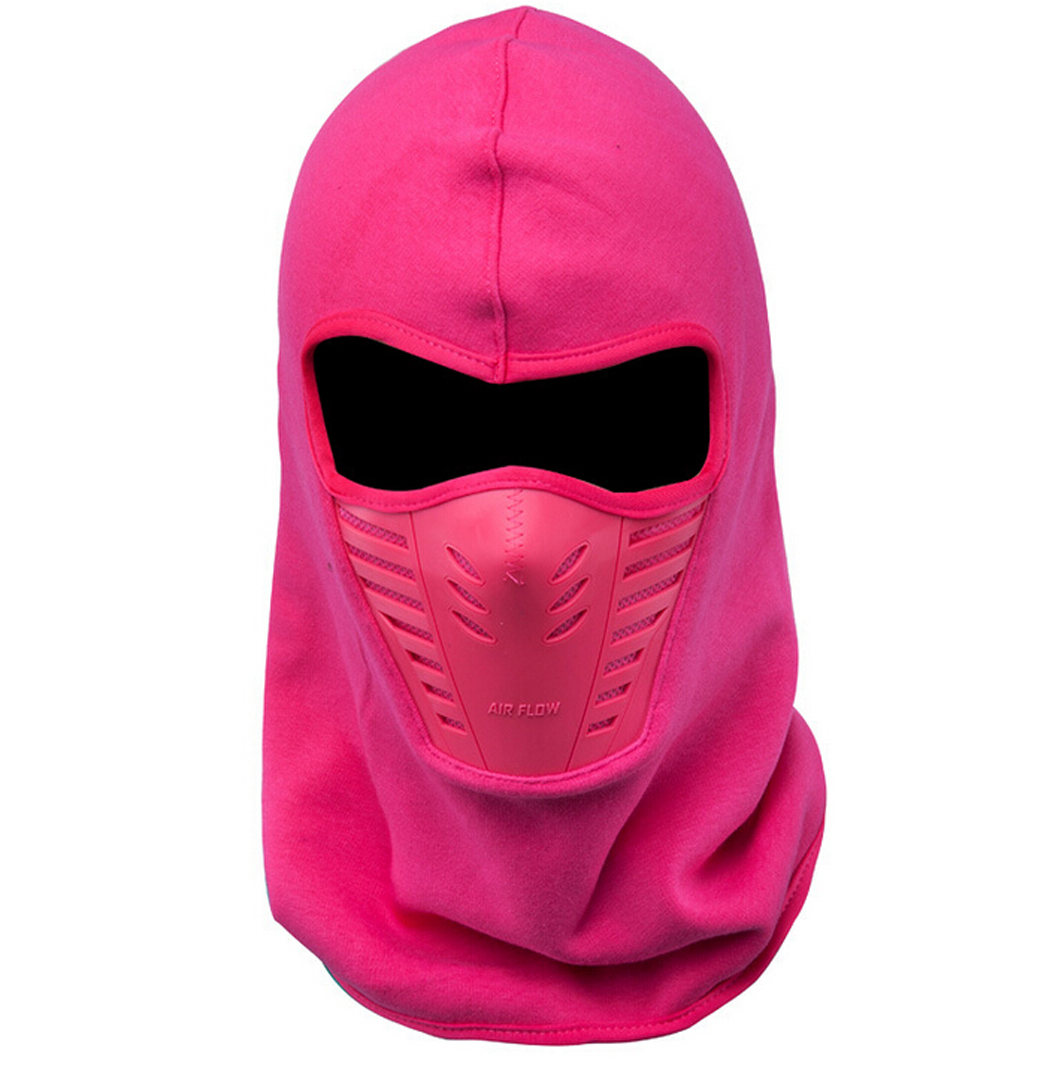 Cycling Snowboarding Tactical Windproof Warm Balaclava Face Mask (Rosy) by Outgeek