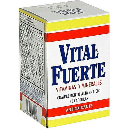 Vital Treasure (Vital  Fuerte Vitamins Capsules 30 ea (Pack of)
