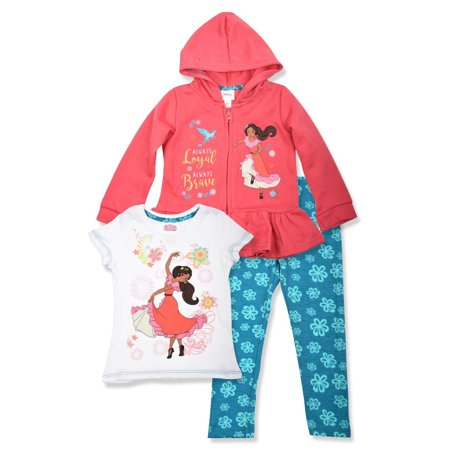 Zip Peplum Hoodie, T-shirt & Leggings, 3pc Outfit Set (Toddler - Blades Of Glory Outfit