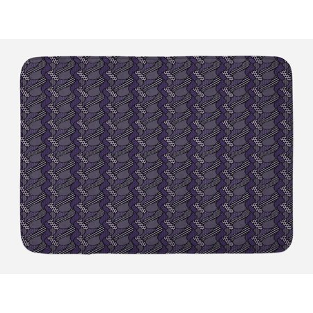 abstract bath mat dotted pattern with curved lines. Black Bedroom Furniture Sets. Home Design Ideas