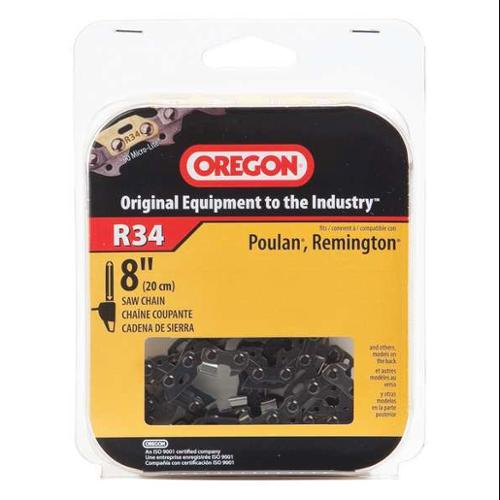 OREGON R34 Saw Chain, 8 In., .043 In., 3/8 In. Pitch