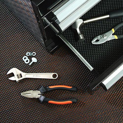 "Con-Tact Brand Grip Premium Non-Adhesive Shelf Liner, Black, 12"" x 4'"