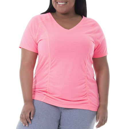 Womens Plus Size Shirred Tee