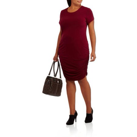 edad32b01d2 Glamour and Co. Women s Plus-Size Flattering T-Shirt Dress with ...