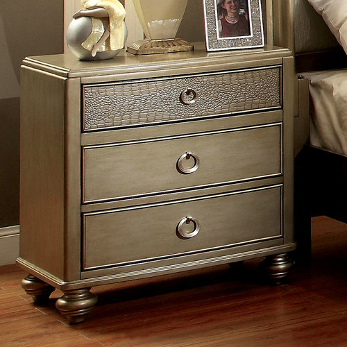 Hokku Designs Shelly 3 Drawer Nightstand