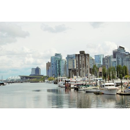 canvas print city real spring buildings canada vancouver urban stretched canvas 10 x (Real Canadian Warehouse)