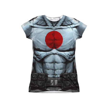 Bloodshot Comics Superhero Shirtless Costume Juniors Front Print T-Shirt - Val Halloween