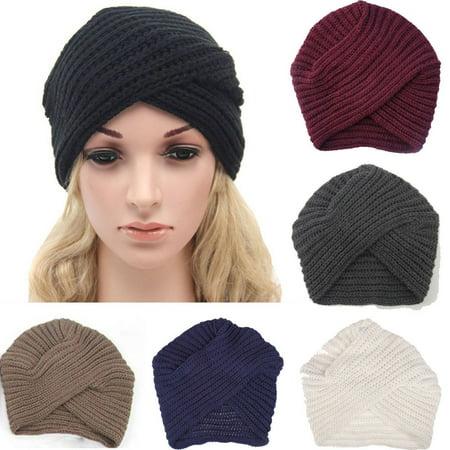 New Fashion Women Winter Men Unisex Knit Beanie Fur Baggy Wool Cap Ski Hat