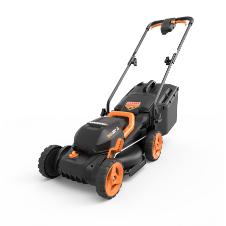 Power Precision Parts Lawn Mower (WORX 40V Power Share 4.0 Ah 14'' Lawn Mower w/ Mulching & Intellicut (2x20V))