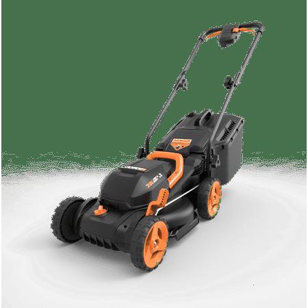 WORX 40V Power Share 4.0 Ah 14'' Lawn Mower w/ Mulching & Intellicut (2x20V)