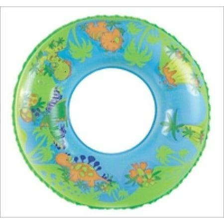 "24"" Round Dino Dinosaur Design Pool Tube Toy for Kids Jungle Swimming Swim"