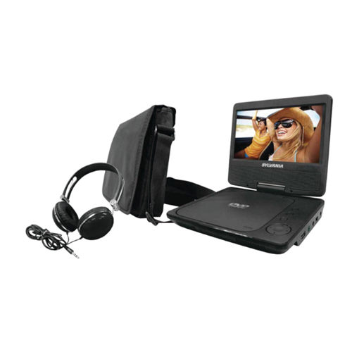 """Curtis SDVD9327 9"""" Portable DVD Player with USB & SD Card Inputs Black Manufacturer Refurbished by Sylvania"""