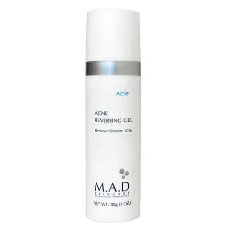 M.A.D Skincare Acne Reversing Gel - Non-Drying Benzoyl Peroxide Blemish Treatment 1 oz.