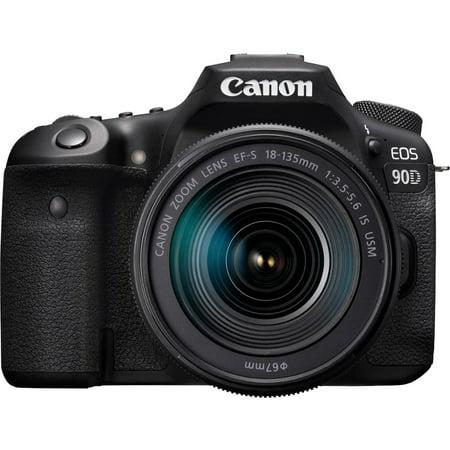 Canon EOS 90D 32.5MP CMOS Digital SLR Camera w/ EF-S 18-135mm f/3.5-5.6 IS USM Lens