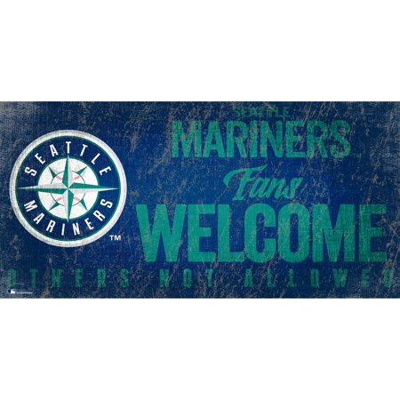 Seattle Mariners 8'' x 10.5'' Fans Welcome Sign - No Size
