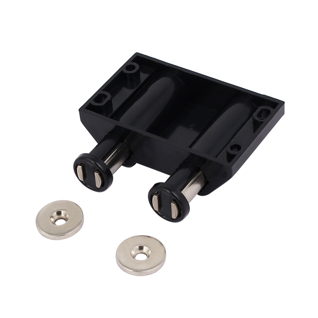 Kitchen Cabinet Cupboard Door Double Magnetic Touch Latch Catch Black