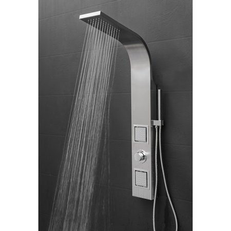 Akdy Dual Shower Head Panel Includes Rough In Valve