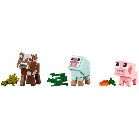 Minecraft Baby Animals Comic Mode 3-Pack with Animal - Minecraft Accessories