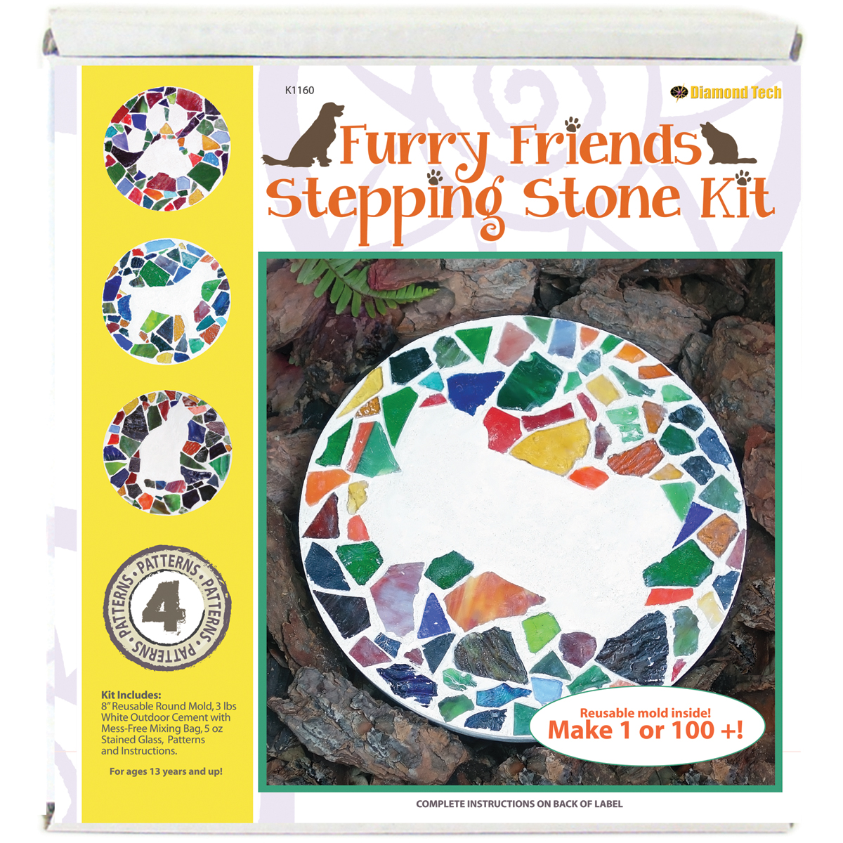 Mosaic Stepping Stone KitFurry Friends