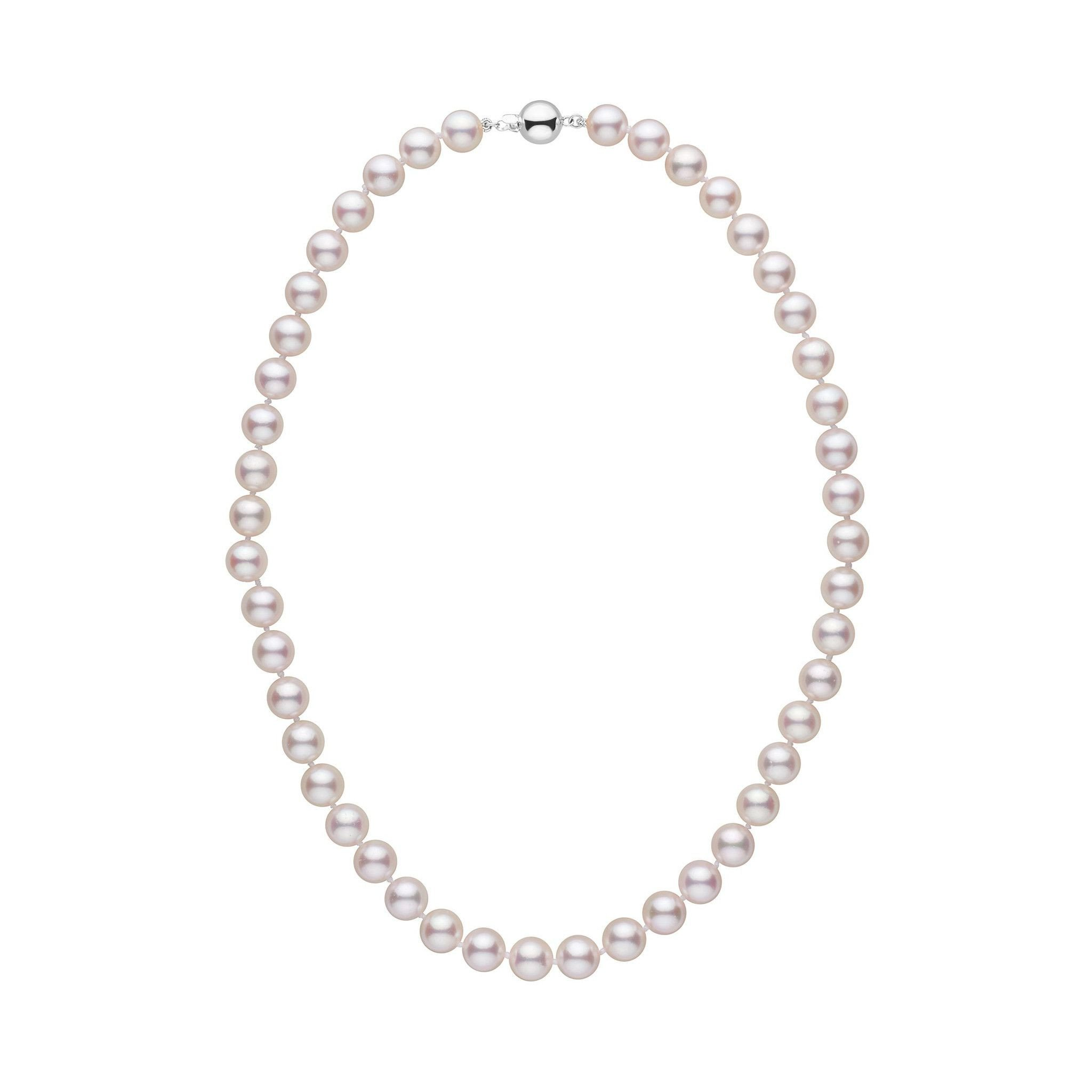 8.0-8.5 mm 18 inch AA+ White Akoya Pearl Necklace by Pearl Paradise