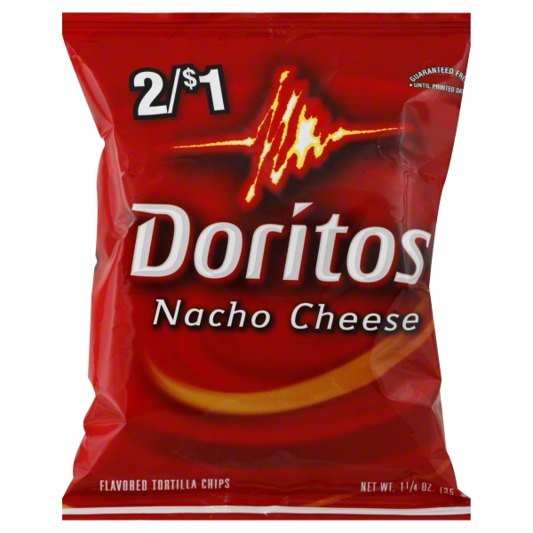 Frito Lay Doritos  Tortilla Chips, 1.25 oz